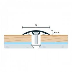 Prechodová lišta WELL bronzová matná 32mm - nivelácia 0-5,5mm