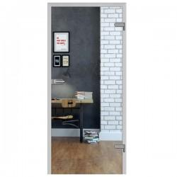 Sklenené Interiérové Dvere DRE - Galla 1 Číre Sklo