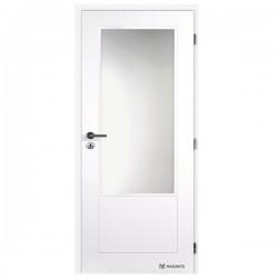 Biele Maľované Interiérové Dvere MASONITE - Dakota Sklo