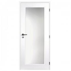 Biele Lakované Interiérové dvere MASONITE - Tampa Sklo