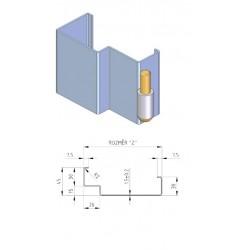 Protipožiarna zárubňa oceľová EI30 murivo 160mm
