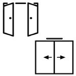 Dvojkrídlové - Otváravé/Posuvné