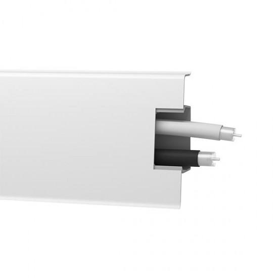 Lišta soklová PVC Arbiton MACK Biela matná 40 60x20x2500 mm