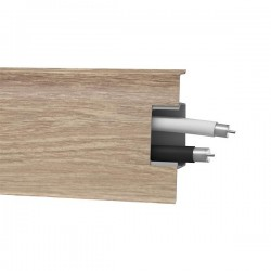 Lišta soklová PVC Arbiton MACK Dub Edmonton 132 60x20x2500 mm