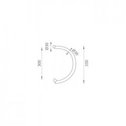 WA - madlo W/M1 100/245 mm HS - Hnedosivá