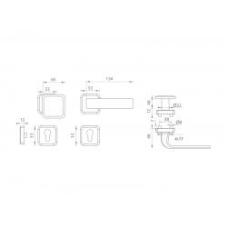 Spevnené kovanie MI - QB SECUR / SUN 1 - HR OC/OC/OCS - Chróm lesklý / chróm lesklý / chróm brúsený