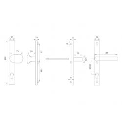 Spevnené kovanie WA - FELIX H2 S - Strieborná