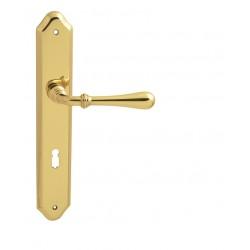Kľučka na dvere FO - CARINA 2 OLV - Mosadz leštená lesklý lak
