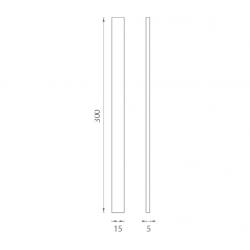 JNF - Mušľa na sklo IN. 16.556.A BN - Brúsená nerez