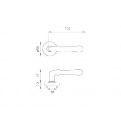 Kľučka na dvere FO - CARINA 2 - R OGS - Bronz česaný matný lak