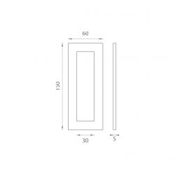 JNF - Mušľa na sklo IN. 16.558.A BN - Brúsená nerez