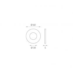 JNF - Mušľa na sklo IN. 16.552.A BN - Brúsená nerez