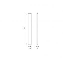 JNF - Mušľa na sklo IN. 16.554.A BN - Brúsená nerez