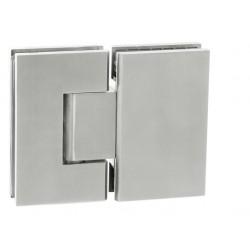 JNF - IN.05.308 Pružinový pánt na sklenené tabule so zastavením (sklo - sklo) BN - Brúsená nerez