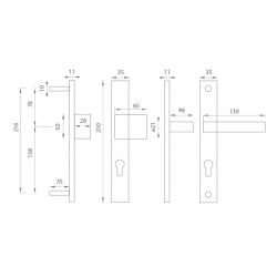 Spevnené kovanie TI - SALVO - 3199 OGS - Bronz česaný matný lak
