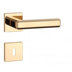 Kľučka na dvere AS - RAFLESIA - HR 7S OLV - Mosadz leštená lesklý lak