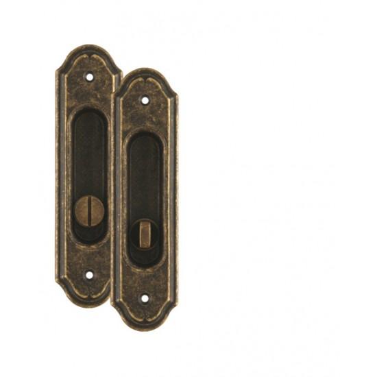 FO - Mušľa rustikálna PIBS - WC OBA - Antik bronz