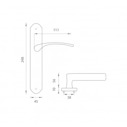 Kľučka na dvere FO - MINORCA OGS - Bronz česaný matný lak