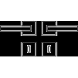 Kľučka na dvere CE - LIVA - HR BC - Čierny chróm