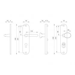 Spevnené kovanie GI - ŠTANDARD F4 - Bronz elox
