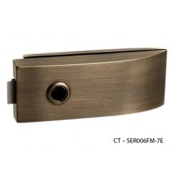 CT - 11000 Kovanie na sklenené dvere OGS - Bronz česaný matný lak