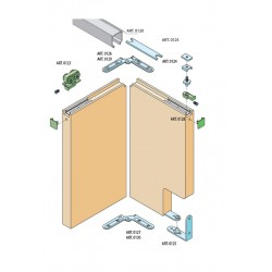 SC - systém SERIES 100 FOLDING DOOR 60 KG