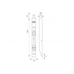 AGB - Zástrč F16 - H150 BM - Bronz matný