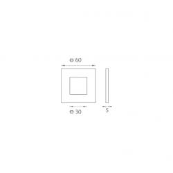 JNF - Mušľa na sklo IN. 16.550.A BN - Brúsená nerez
