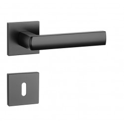 Kľučka na dvere AT - HOSTA - HR 7S BS - Čierna matná