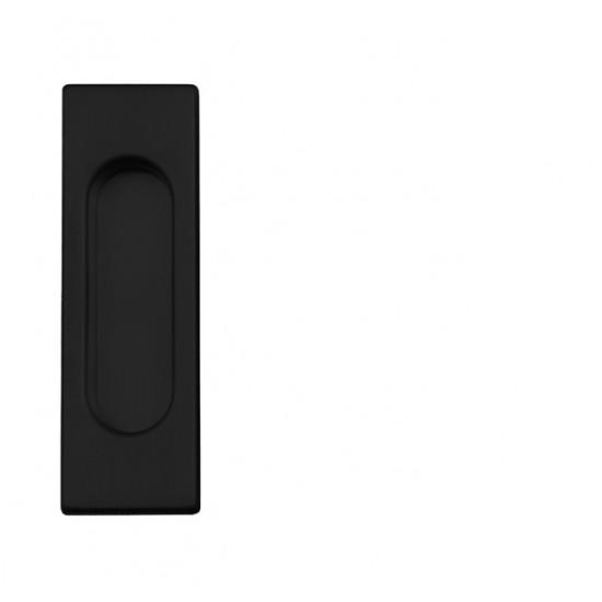 FT - Mušľa hranatá bez otvoru - 3663AC BS - Čierna matná
