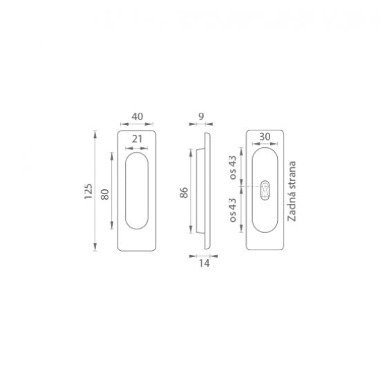FT - Mušľa hranatá BB/S - 3663AF OC - Chróm lesklý