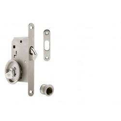 ATZ - Set na posuvné dvere BB 3972D - okrúhly BN - Brúsená nerez