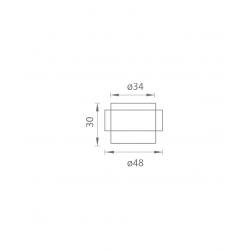 AXA - Zarážka dverí oválna - FS48 BN - Brúsená nerez