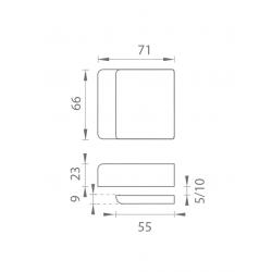 TI - Protikus pre zámok na sklo 4019 BS - Čierna matná