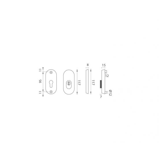 AXA - ROZETA BETA2 PLUS B - Biely komaxit