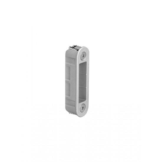 AGB - Protiplech k magnetickému zámku MEDIANA POLARIS nastaviteľný pre hliníkovú zárubňu VC - Velvet chróm