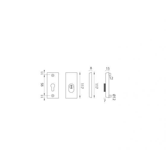AXA - ROZETA ATLAS2 PLUS F1 - Prírodný elox