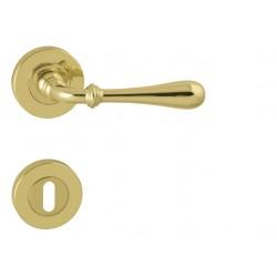 Kľučka na dvere FO - CARINA 2 - R OLV - Mosadz leštená lesklý lak