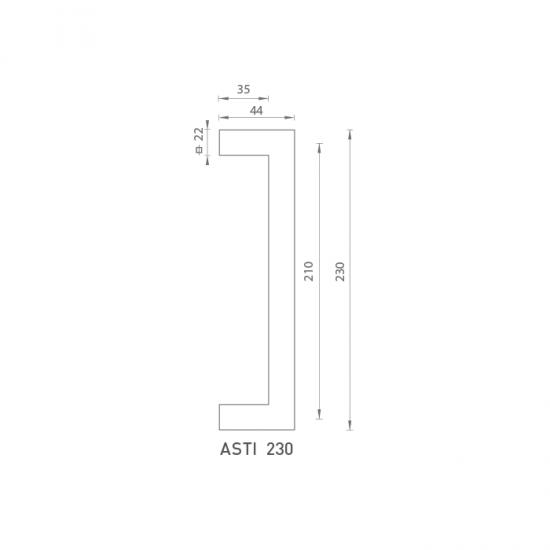 FO - madlo Asti 230 OC/OCS - Chróm lesklý / chróm brúsený