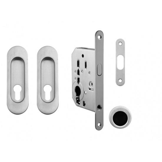 FT - Set na posuvné dvere - PZ/D - R OCS - Chróm brúsený