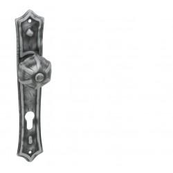 Kľučka na dvere LR - AGAVE Kovaná sivá