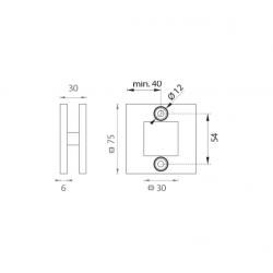 JNF - Mušľa na sklo IN. 16.529 BN - Brúsená nerez