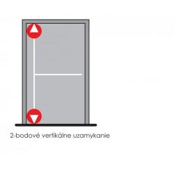 DA - Dvojbodové panikové kovanie na jednokrídlové dvere D1/1H-1D S - Strieborná