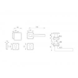 Spevnené kovanie MI - QB SECUR / ARTE - HR OGS - Bronz česaný matný lak