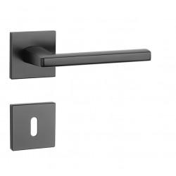 Kľučka na dvere AT - PYROLA - HR 7S BS - Čierna matná