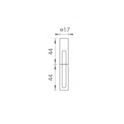 TI - Krytka na záves 0251 s rádiusom 3,51 (R351) BVOC - Čierny velvet chróm