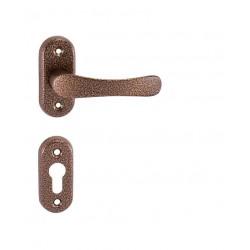 Kľučka na dvere KE - MICHAELA - UOR AH  - Antik hnedá