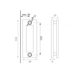 JNF - Mušľa na sklo IN. 16.530 BN - Brúsená nerez