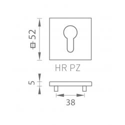 TI - ROZETA - HR 5S OLS - Mosadz brúsená lesklý lak