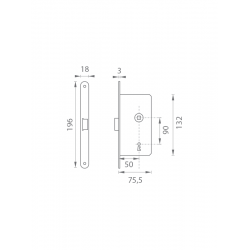 AGB - Magnetický zámok MEDIANA POLARIS BB B - Bronz česaný matný lak